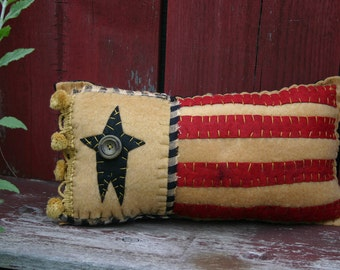 Stars and Stripes Flag Pillow