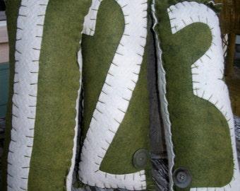 Customized Number Pillows