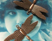 Copper Ox Plated Brass Dragonfly Charms Jewelry Supplies 321COP x2