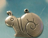 Claearance Closeout Sale Silver Ox Plated Sweet Little Snail Charms Stampings 149SOX x2