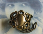 Brass Ox Plated Fancy Filigree Finger Ring Stampings 500BOX x2