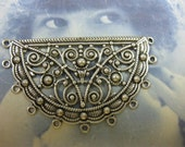 Sterling Silver Ox Plated Half Circle Ornate Filigree 11 rings  807SOX x2