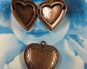Copper Ox Plated Heart Shaped Photo Lockets 431COP x2