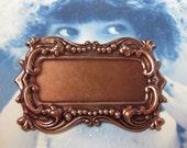 Copper Ox Plated Art Nouveau Style Bezel Frame 27COP  x1