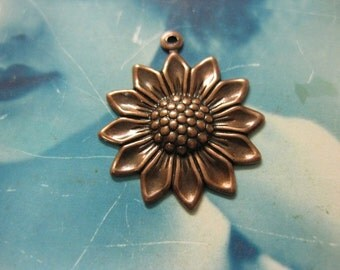 Copper Ox Plated Charming Sunflower Charms 281COP x2