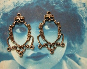 Filigree Copper Ox Plated Earring Chandeliers 597COP x2