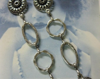 Tibet Handmade Alloy 35 inch Silver Ox Plated Designer Chain 610SOX