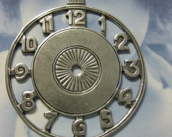 Silver Ox Plated Large Brass Watch Face 715SOX x1
