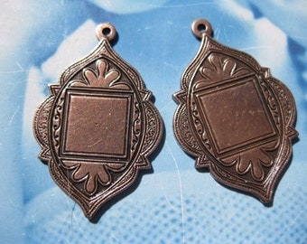 Copper Ox Plated Arabian Style Medallions 35COP x2