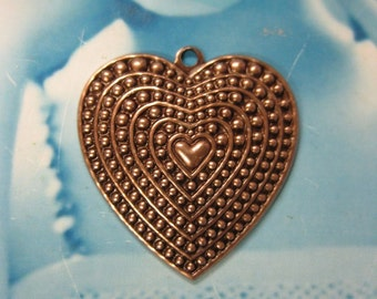 Copper Ox Plated Heart Charms 430COP x2