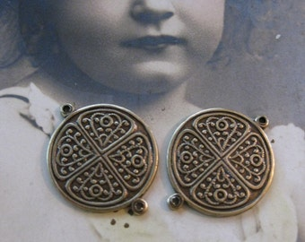 Celtic Brass Ox Plated Connectors Drops Great for Earrings 39BOX x2