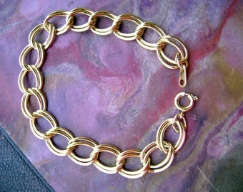 Brass Gold Plated Chain Link Bracelet 143GOL x1