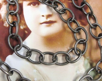 Great Silver Ox Plated Cable Link Jewelry Chain 5026SOX