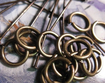20 gauge Brass Ox Jump Rings 548BOX x50