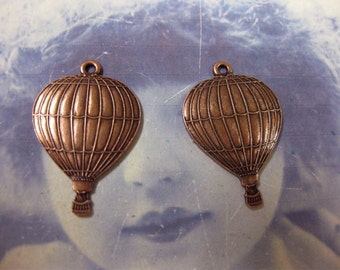 Copper Ox Plated Small Hot Air Balloon Charms 559COP x2
