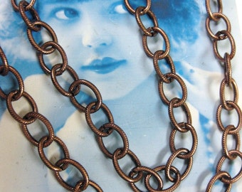 Copper Ox Plated Cable Link Jewelry Chain 5026COP
