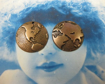 Copper Ox Plated Around the World Globe Charms 550COP x4