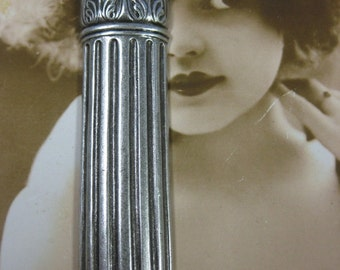 Clearance Closeout Sale Silver Ox Plated Large Brass Column 648SOX x1