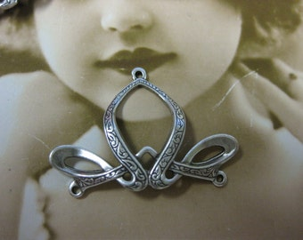 Sterling Silver Ox Plated Celtic Embossed Pendant  733 SOX x2
