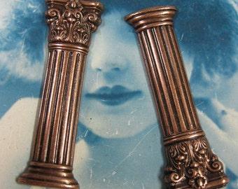 Copper Ox Plated Stunning  Brass Columns  713COP x2