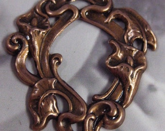 Copper Ox Plated Calla Lily Art Nouveau Stampings 737COP x2