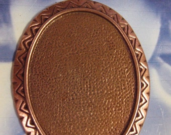 Copper Ox Plated Large Oval Bezel Setting  Pendant 192COP x1