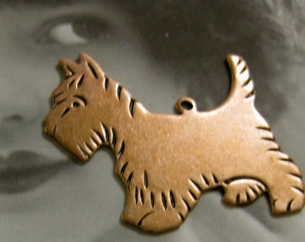 Copper Ox Plated Scottie Dog Charms 669COP x2