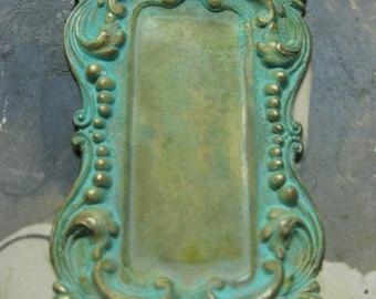 Verdigris Patina Art Nouveau Style Bezel Frame 27VER x1