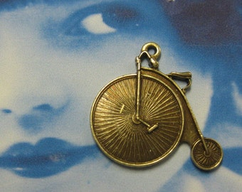 Brass Ox Plated Mini Bicycle Charms 2009BOX x2