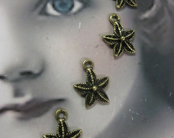 Bronze Ox Plated Starfish Charms 2043BRZ x6