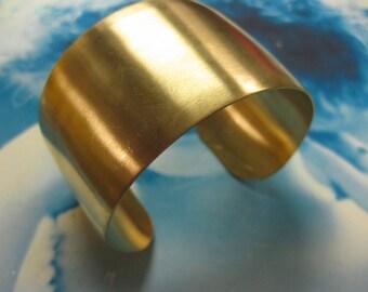 Raw Brass Bangle 1 1/2 inch Bracelet Blank 616RAW x1