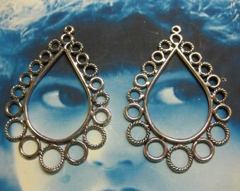 Clearance Closeout Tear Drop Earring Hoops Galore 617SIL x2