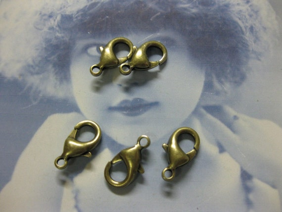 Bronze Ox Plated Lobster Claw Clasps 14mm 728BOX x4