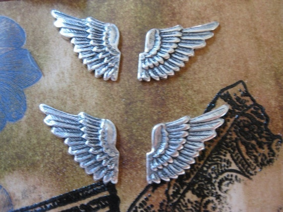 Stunning Silver Ox Plated Wings