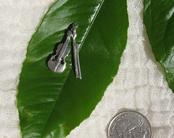 Sterling Silver Violin & Bow Charm for Charm Bracelet or Necklace