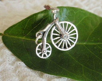 Sterling Silver Bicycle Charm for Charm Bracelet or Necklace