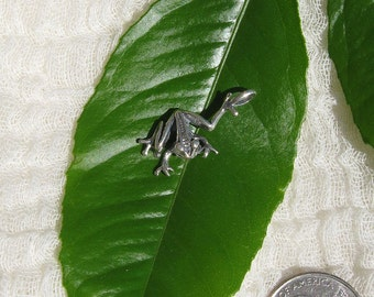 Sterling Silver Jumping Frog Charm for Charm Bracelet or Necklace