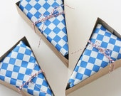 25 DELUXE Red, White and Blue Wedge-Shaped Pie Box Kits (all accessories included)