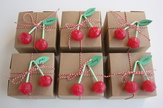 Set of 24 Cherry Lollipops from Europe