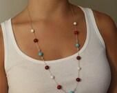 boho necklace-turqoise