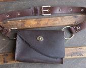 Oiltan Hip Leather Festival Bag