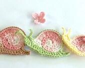 Crochet PATTERN - Sid the Snail - 70s Style Cutie with Butterfly  - crochet snail ornament pattern