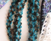 crochet PATTERN - Make Easy PEBBLE Stitch Headbands and Scarfette from Leftover Yarn - scrap project crochet pattern
