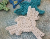 CROCHET PATTERN - Dove in Flight - Tiny Crocheted Dove Ornament or Applique - PDF pattern with permission to sell