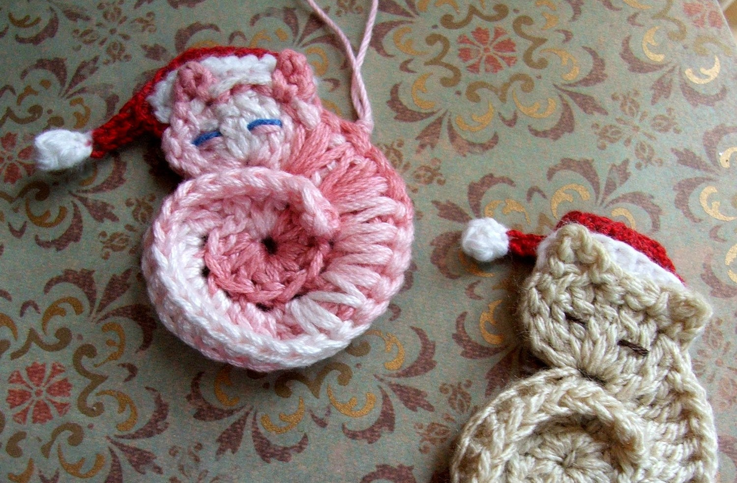 Crochet Pattern Darling Kitty Tiny Crocheted Cat Ornament