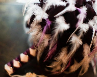 REGAL ROYALE Feather And Organza Wedding Bouquet