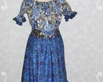 SALE!! - Boutique Prairie Style Peasant Dress - Size 7 Ready to Ship
