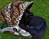 Infant Car Seat Cover-  Cheetah Baby 1