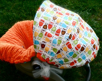 infant car seat cover baby car seat cover in owl. Black Bedroom Furniture Sets. Home Design Ideas