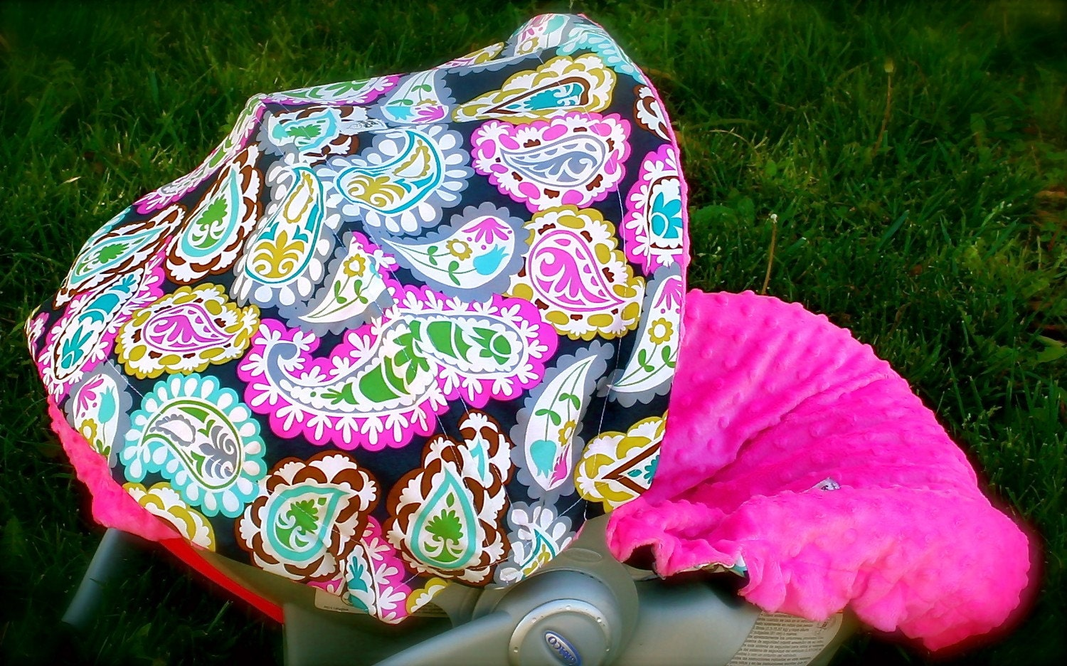 infant car seat cover baby car seat cover paisley by chubbybaby. Black Bedroom Furniture Sets. Home Design Ideas